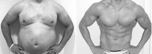 Antes e depois Lineshake