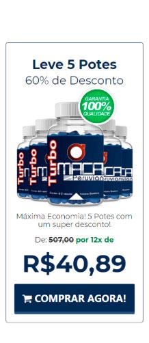Comprar 5 potos de Turbo Maca Peruvian com 60% de desconto