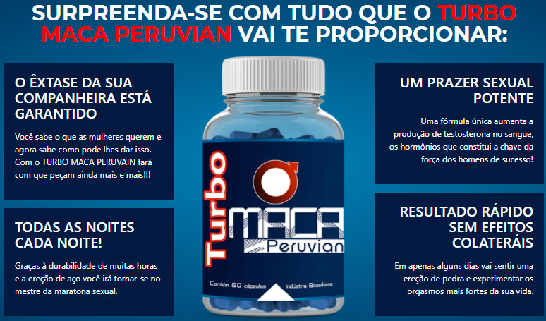 Benefícios Turbo Maca Peruvian